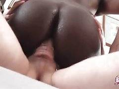 Slutty Black She-Male Jumps On Stiff Dong 3